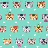 Cats Cats seamless pattern Seamless pattern cute cats for children Seamless pattern with cute cartoon kittens onbackground