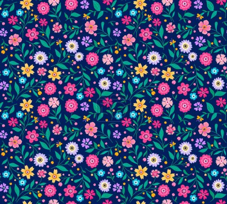 Seamless pattern with flowers for design.