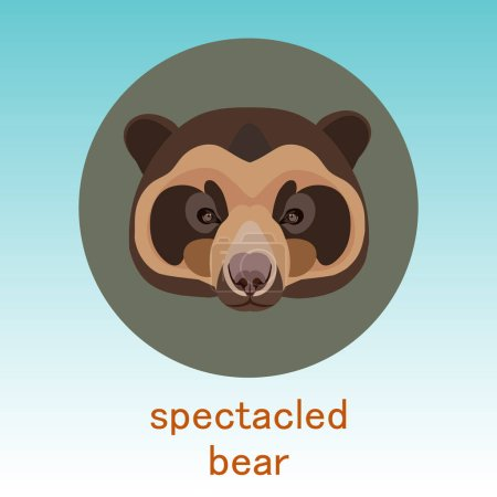 Spectacled bear icon