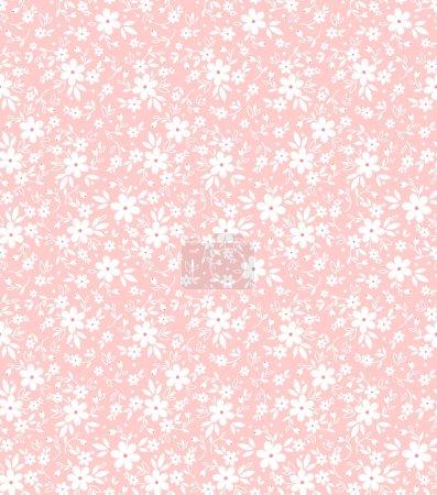 Illustration pour Motif floral. Impression avec de petites fleurs. Empreinte soignée. Texture vectorielle sans couture. Bouquet de printemps . - image libre de droit