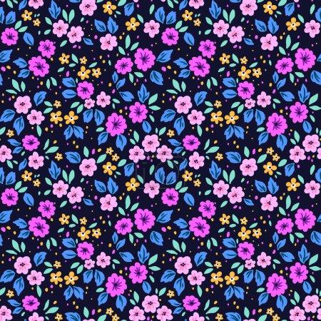 Simple cute pattern in small flowers