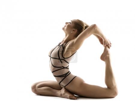 Yoga Backbend Gymnastics, Woman Flexible Body Fitn...