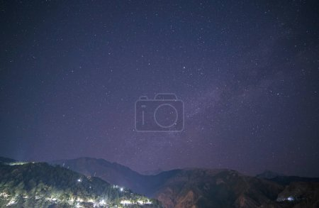 Photo for Starry sky above Himalayas mountains in Dharamshala, India - Royalty Free Image