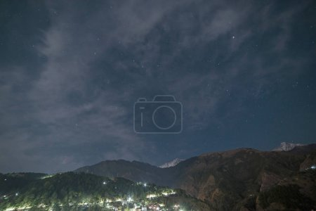 Photo for View on Dharamshala at night, India - Royalty Free Image