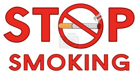 Stop Smoking Red Sign