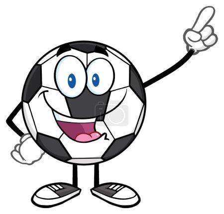 Happy Soccer Ball Cartoon Mascot