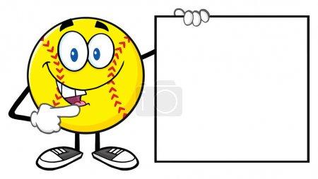 Softball Cartoon Mascot