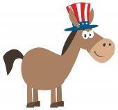 Democrat Donkey Cartoon Character