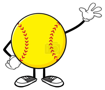 Softball Faceless Cartoon Mascot Character