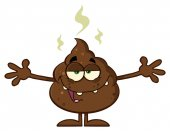 Happy Funny Poop Cartoon Character