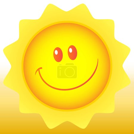 Happy Sun Cartoon Mascot Character.