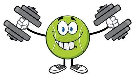 Tennis Ball Cartoon Mascot