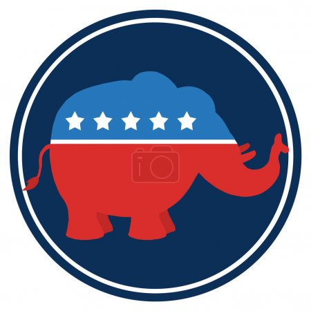 Republican Elephant Illustration