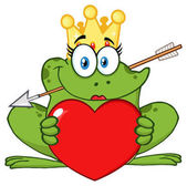 Smiling Princess Frog