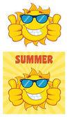 Sun Cartoon Mascot Character