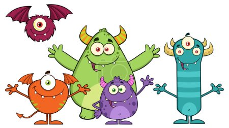 Monsters Cartoon Characters