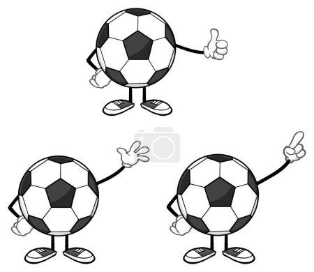 Soccer Ball Cartoon Mascot  Character