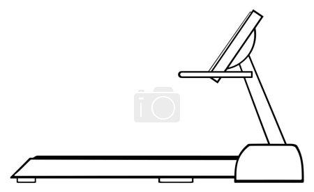 Cartoon Illustration Of Empty Treadmill