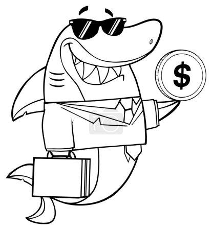 Shark Cartoon Mascot
