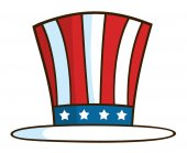 Patriotic American Top Hat