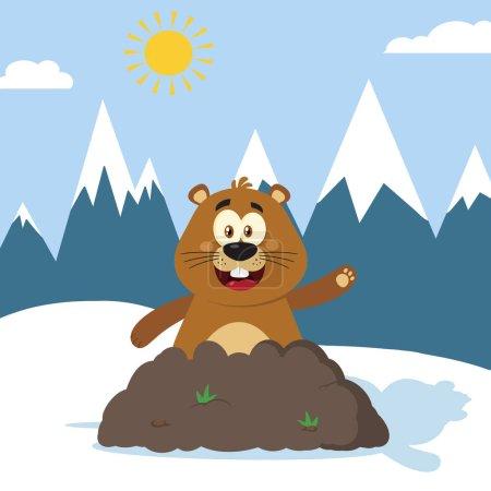 Marmot Cartoon Character