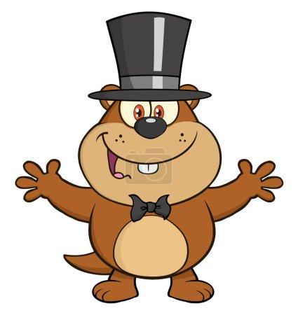 Cute Marmot Cartoon Character