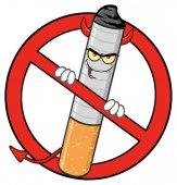 Cigarette Cartoon Character