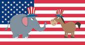Elephant Republican Vs Donkey Democrat