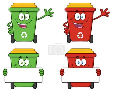 Recycle Bin Cartoon