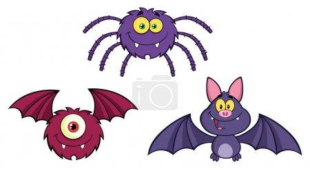 Figuren aus Halloween-Monstern