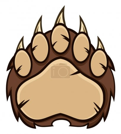 Bear Paw With Claws.