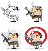Gangsters Cartoon Characters Vector Collection