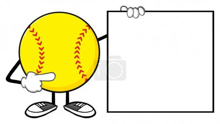 Softball Faceless Cartoon