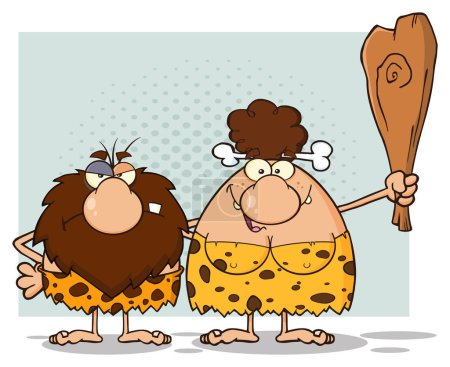Caveman Couple Characters