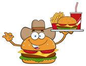 Burger kreslená postavička