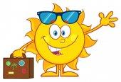 Usmívající se Sun kreslený