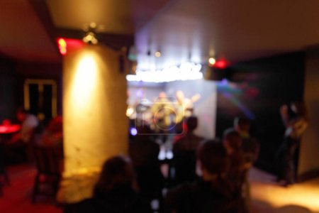 Photo pour Discothèque thème créatif abstrait fond flou avec effet bokeh . - image libre de droit
