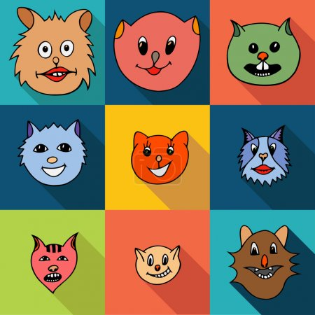 Set of cats icons