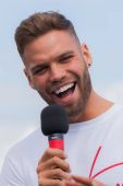 Dominic Lever from Love Island at Truckfest 2017