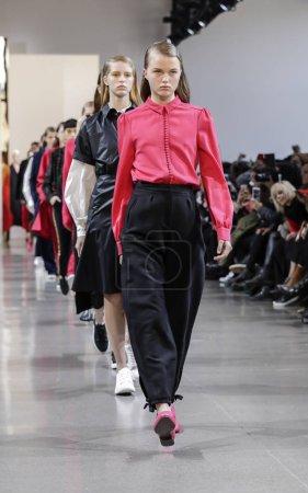 Models walk runway