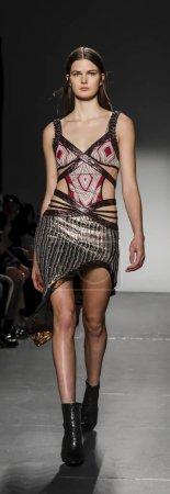 model walks runway