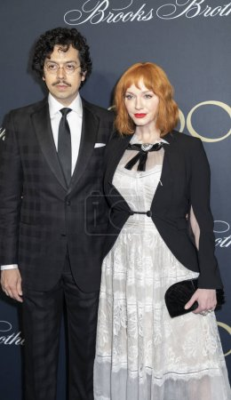 actors Geoffrey Arend and Christina Hendricks