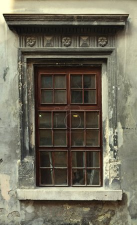vintage window of old building