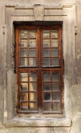 vintage window of building