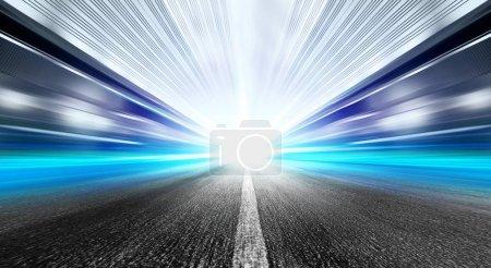 Photo pour Conduite à grande vitesse en tunnel - flou de mouvement - image libre de droit