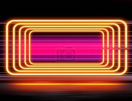 Photo pour Conception hautement technologique avec éclairage néon - image libre de droit