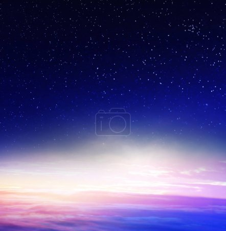 Photo for Blue night sky with stars - Royalty Free Image