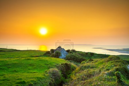 Irish cottage house near the ocean