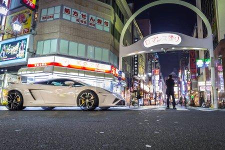 White Lamborghini Gallardo on the