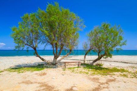 Scenery of Maleme beach on Crete